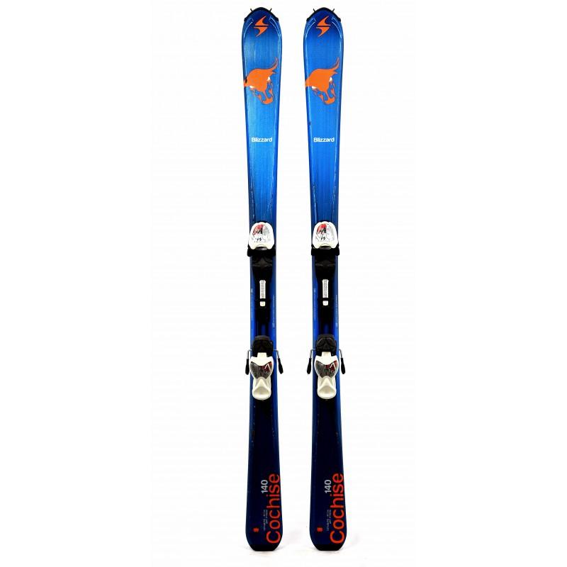 Ski occasion junior Blizzard cochise bleu Qualité B + fixations