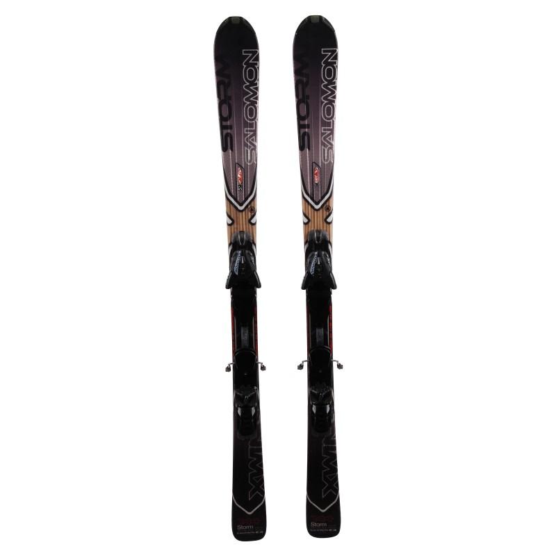 Ski occasion Salomon XW Storm + fixations Qualité A