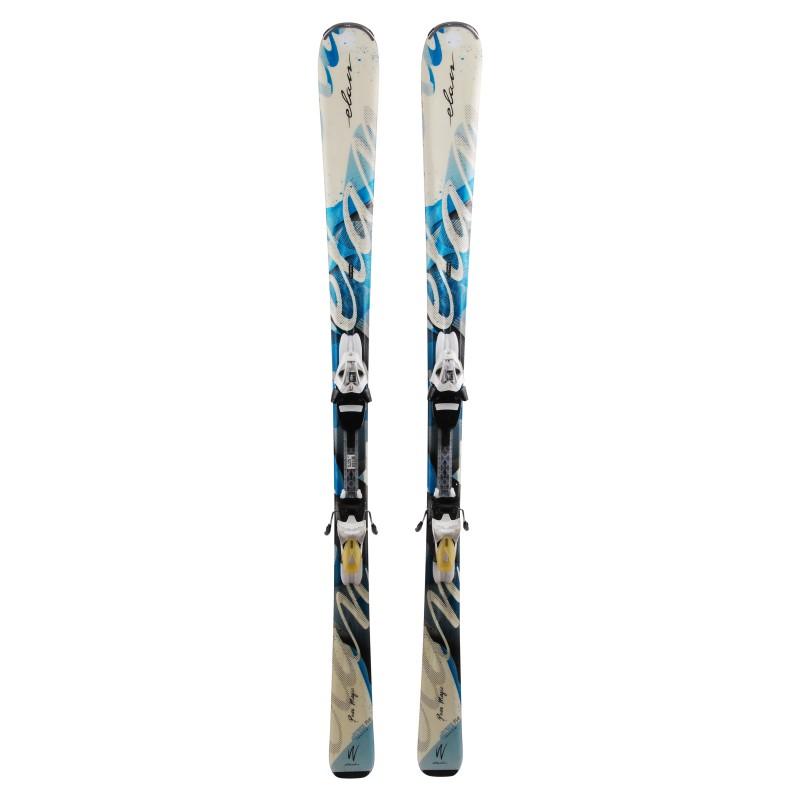 Elan Pure Magic esquí blanco / azul + fijaciones