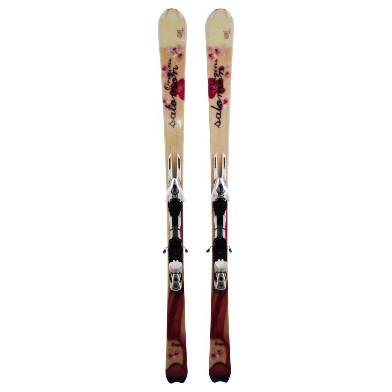 Ski occasion Salomon origins Qualité A + fixations