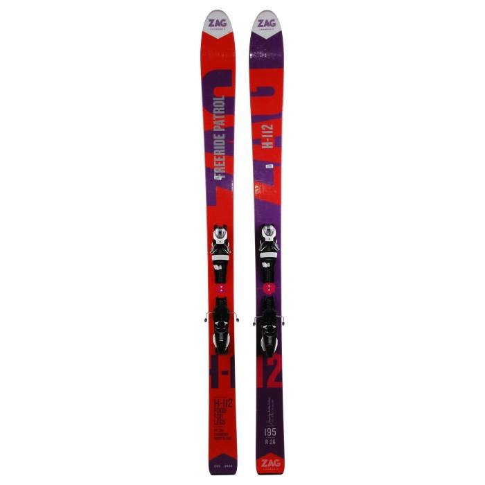 Gebrauchte Ski Zag H112 + Befestigungen