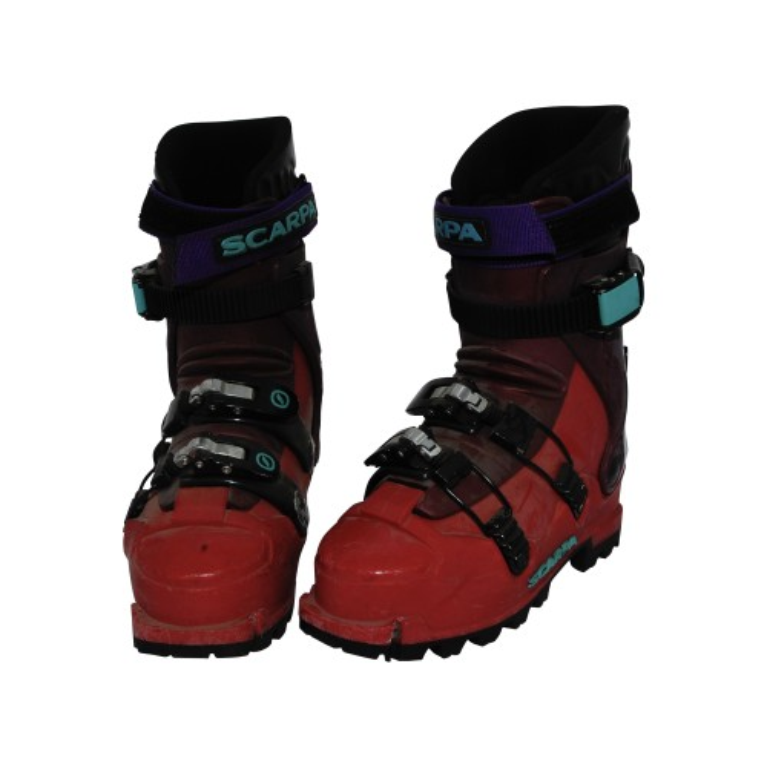 Skitourenschuh Scarpa rot violett