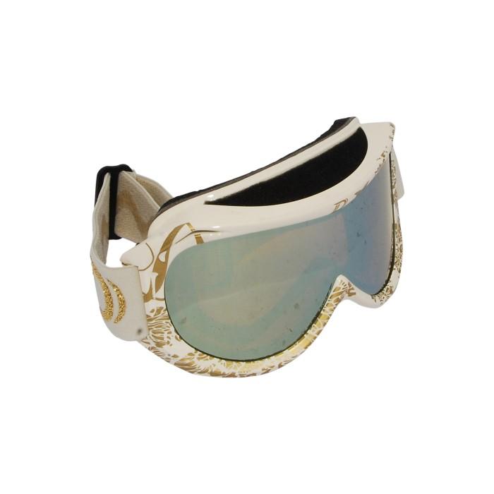 Dénériaz Máscara de esquí de borde de frontera Creme o