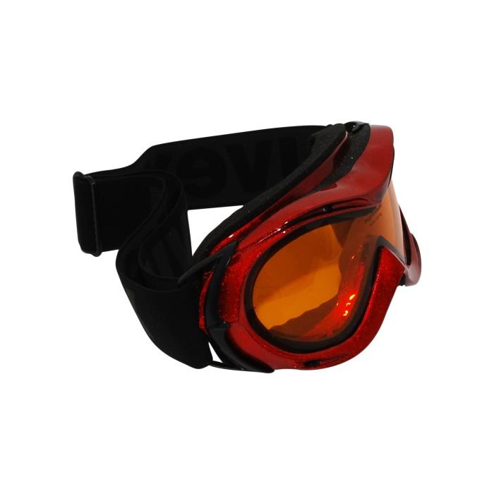 Casco de esquí Uvex rojo / amarillo