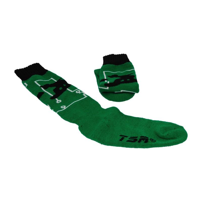 chaussette junior vert