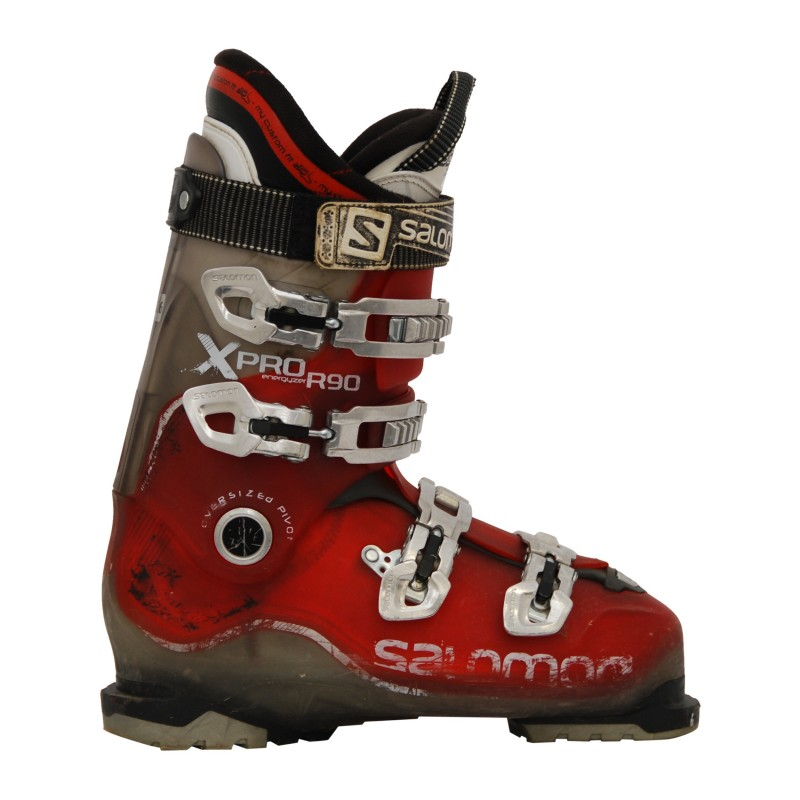 Used ski boot Salomon Xpro 110 black white