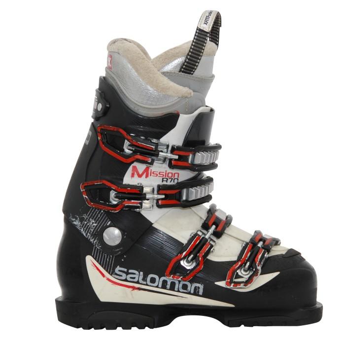Misión Salomon R70/60/550 bota de esquí en blanco y negro