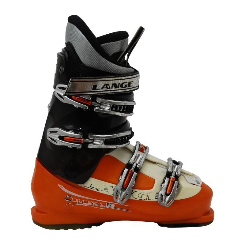 Chaussure de Ski Occasion Lange Concept plus R orange/noir/blanc qualité A
