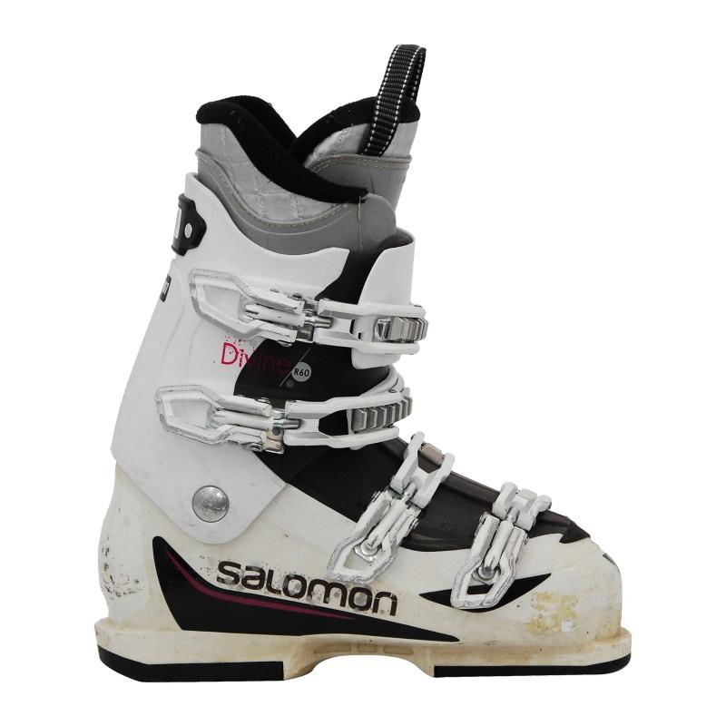 Chaussure de ski occasion Salomon Divine R60 blanc/rose qualité A