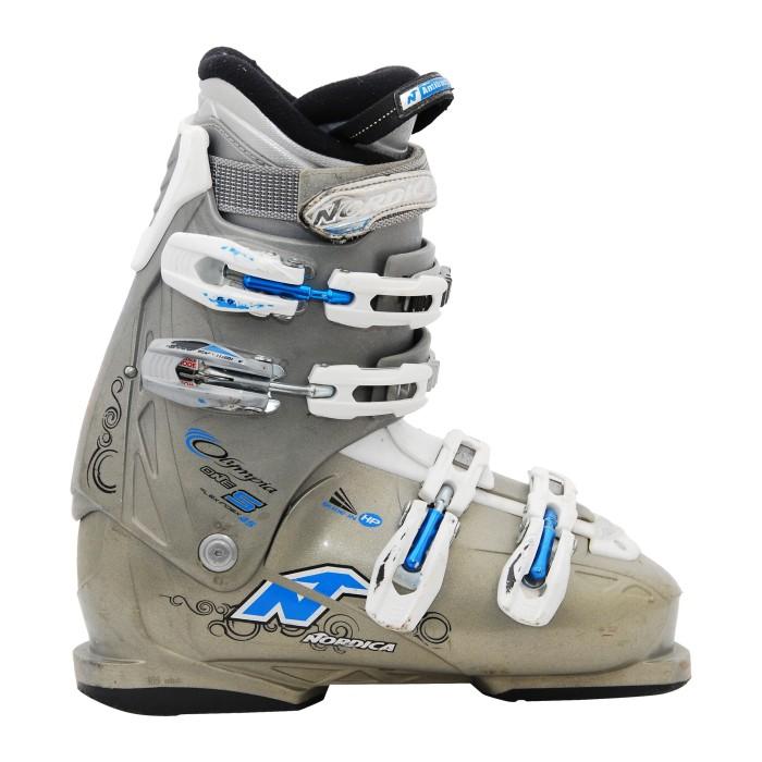 Nordica Olympia/ zapato de esquí gris usado