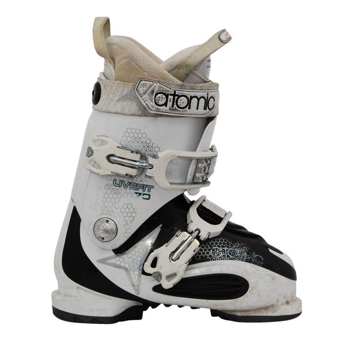 Las botas de esquí en vivo atómicas se ajustan más blanco/negro