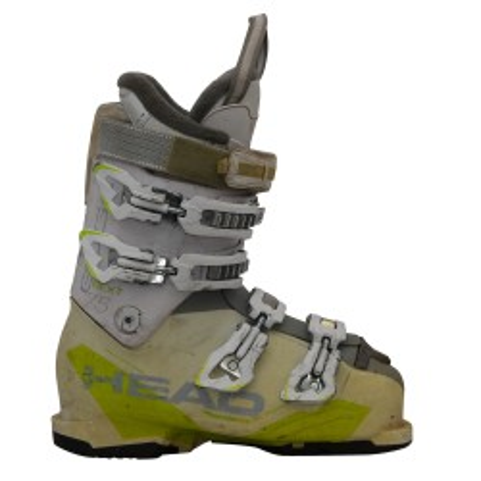 Cabeza siguiente borde 75W bota de esquí blanco / amarillo
