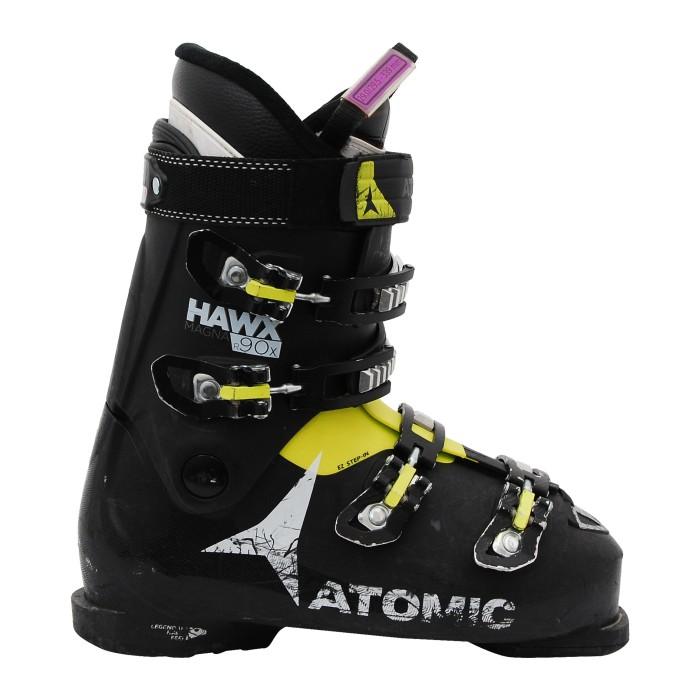 Chaussures de ski occasion Atomic hawx magna R90x noir jaune