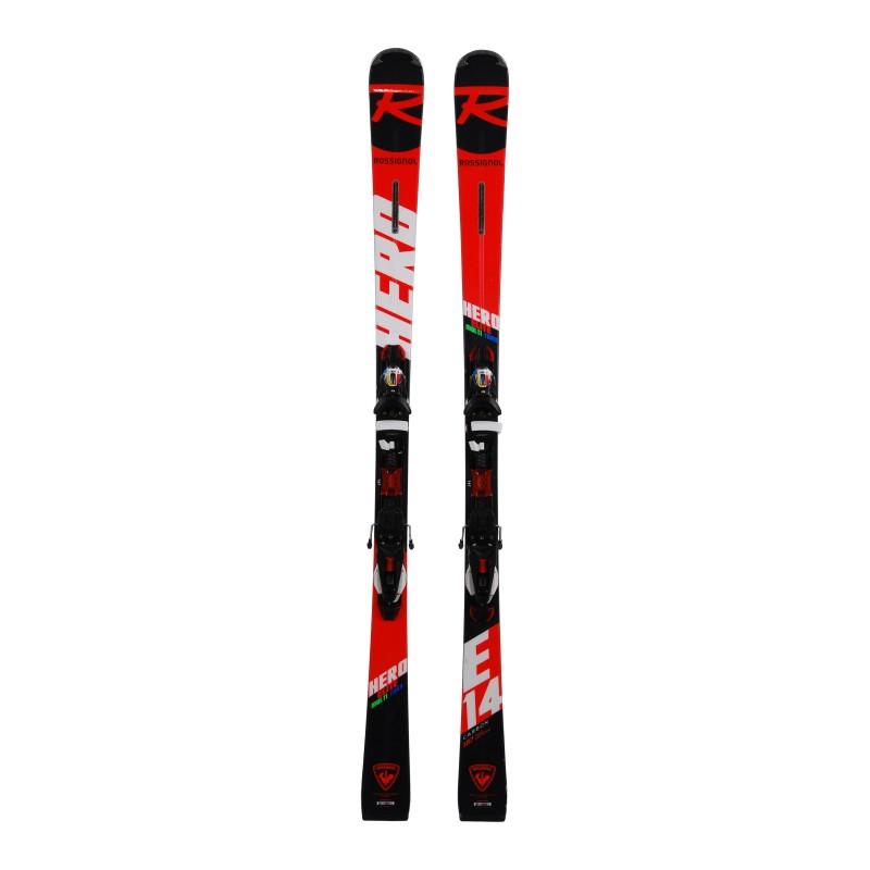 Ski Rossignol Hero Elite Multi Turn Carbon occasion + fixations qualité A