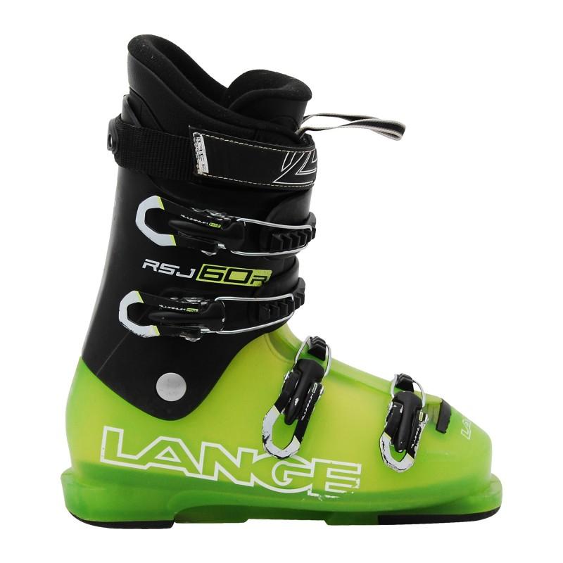 Chaussure de Ski Occasion Junior Lange RSJ 50/60 noir vert qualité A