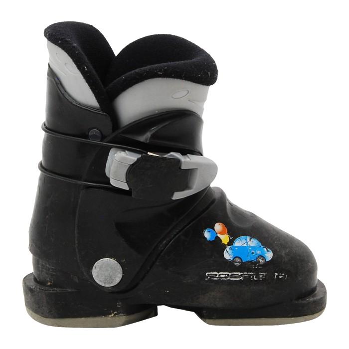 Junior Rossignol mini R 18 scarpa da sci nera