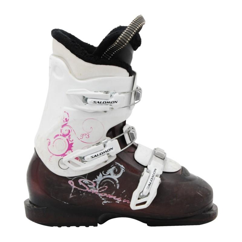 Chaussure ski occasion Salomon Junior violette