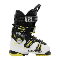 Skischuh Occasion Junior Salomon quest access 70T schwarz/weiß