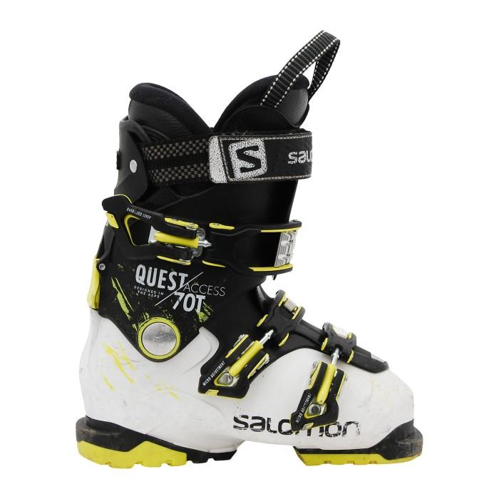 Salomon Junior Quest accesso 70T scarpa da sci in bianco e nero