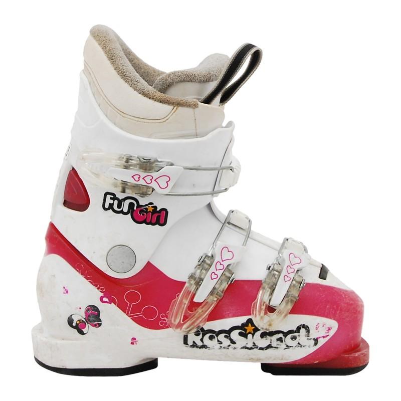 Chaussure de ski occasion junior Rossignol fun girl blanc/rose
