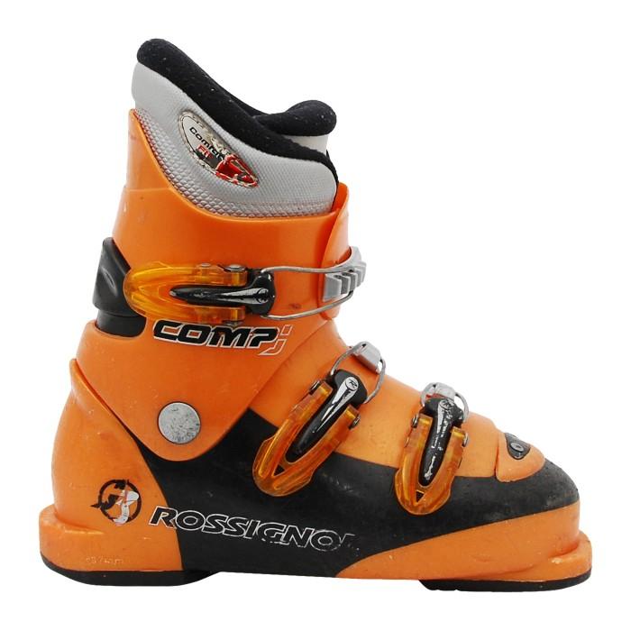 Junior ski boot used Rossignol Comp J orange