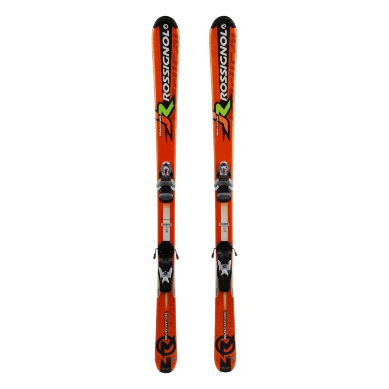 Junior ski Rossignol Radical orange + bindings