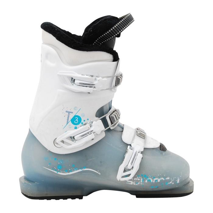 Salomon Junior T2/ T3 blue/white used ski shoe
