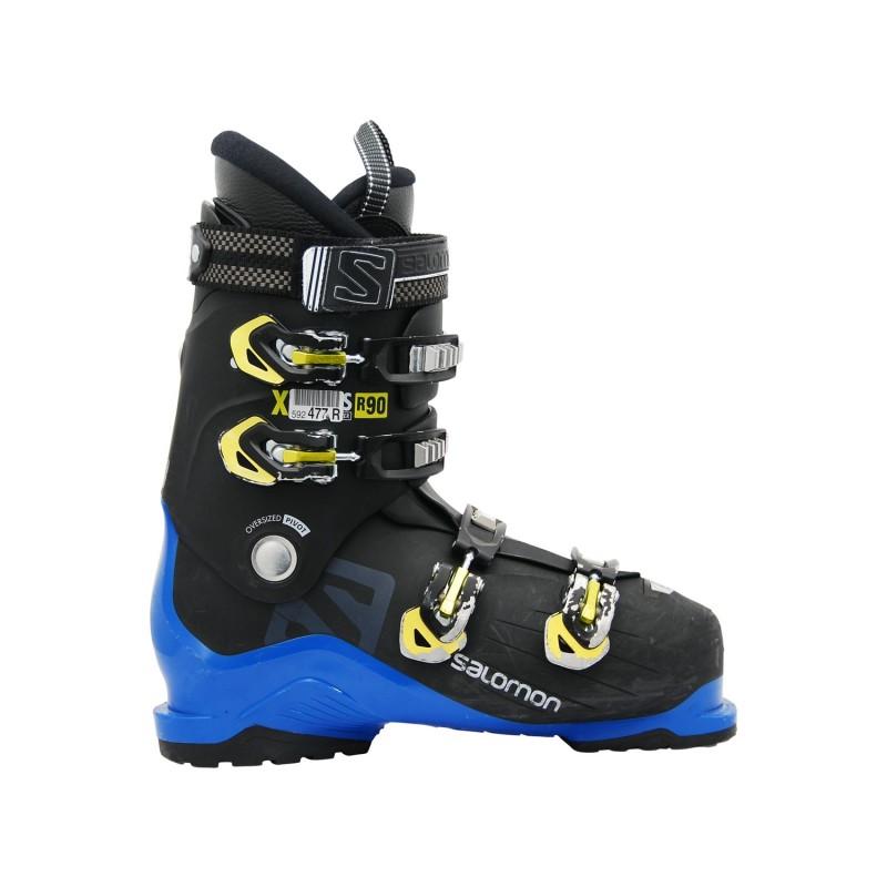 Chaussure de ski Occasion Salomon xaccess R90 noir bleu - Qualité A