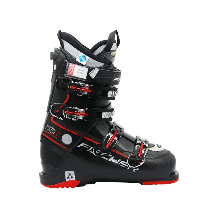 Gebrauchte Skischuh Fischer Viron 9 schwarz rot