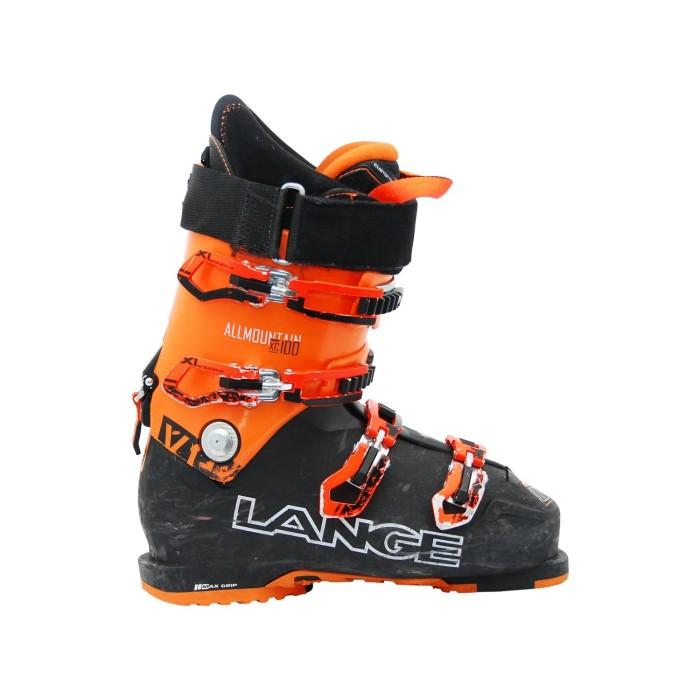 LANGE XC 100 zapato de esquí de color naranja negro usado