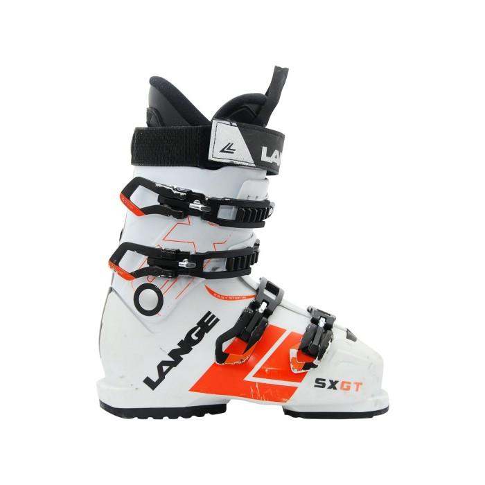 Gebrauchte Skischuh Lange SX GT weiß orange