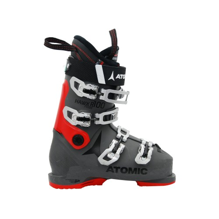 Gebrauchte Skischuhe Atomic hawx Prime R 100 grau rot