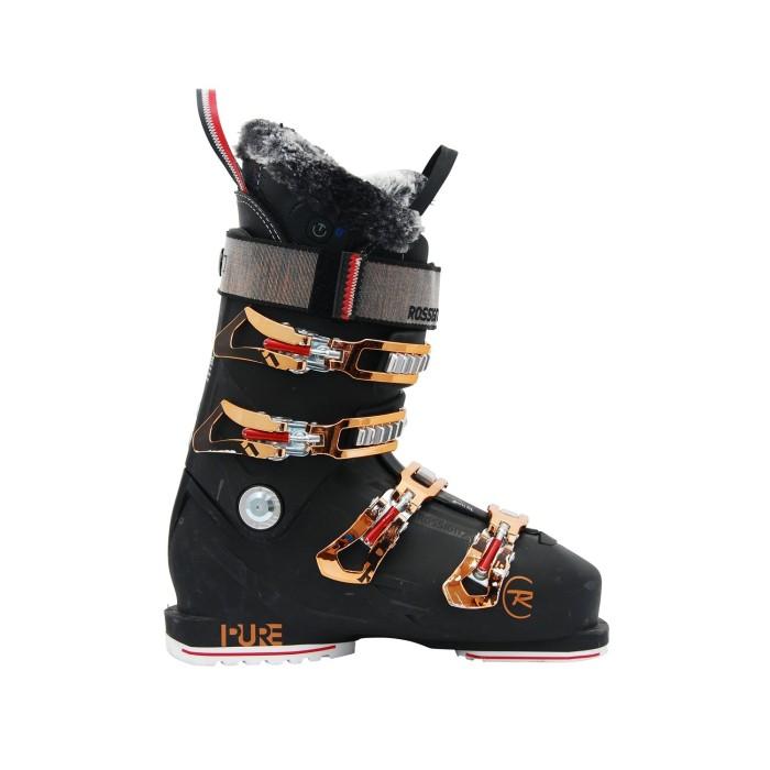 Rossignol Pure pro heat negro usado zapato de esquí