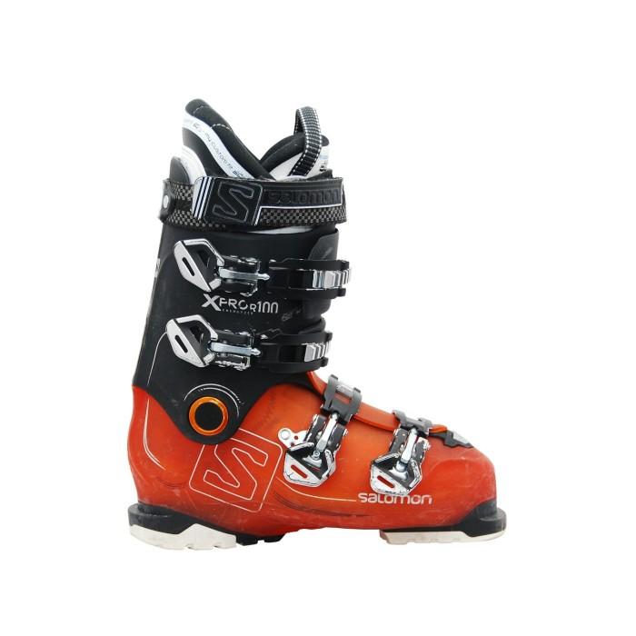 Schuhe Gebrauchte Ski Salomon Xpro R100 schwarz orange