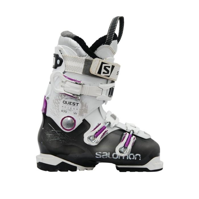 Chaussures de ski occasion Salomon Quest access R70w blanc noir violet