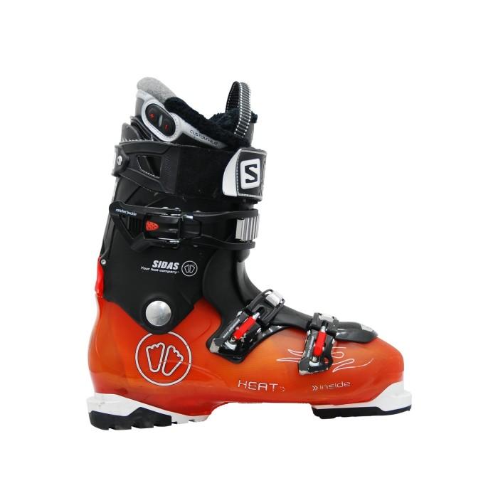 Salomon Sidas naranja negro zapato de esquí