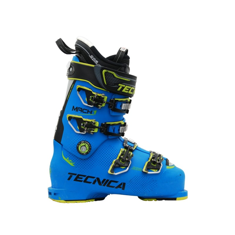 Chaussure de ski occasion Tecnica Mach 1 mv 120 bleu - Qualité A