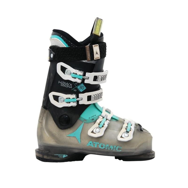 Chaussures de ski occasion Atomic hawx magna R 80 W noir - Qualité A