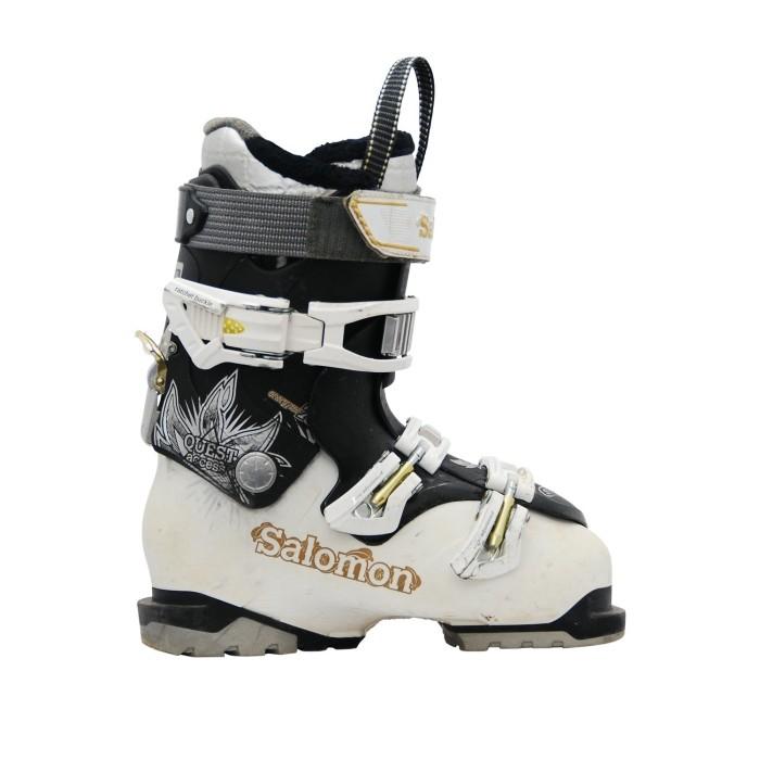 Chaussures de ski occasion Salomon Quest access R70w blanc noir