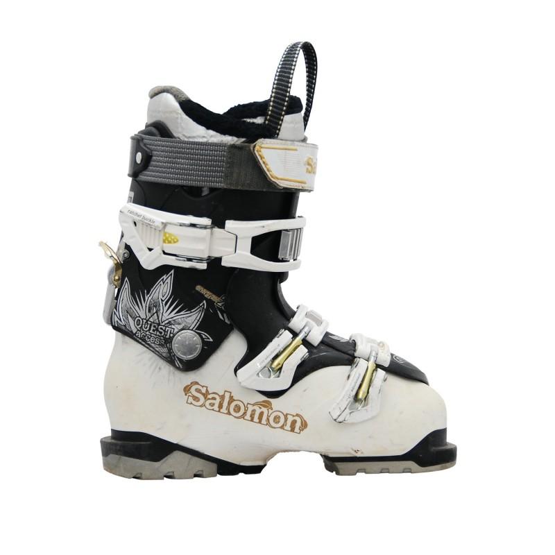 Chaussures de ski occasion Salomon Quest access R70w blanc noir - Qualité A