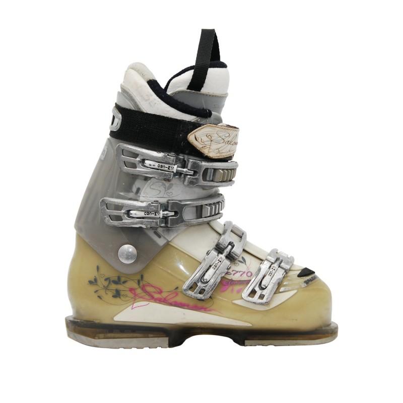 Chaussure de ski occasion Salomon Divine 770 gris/beige/blanc - Qualité A