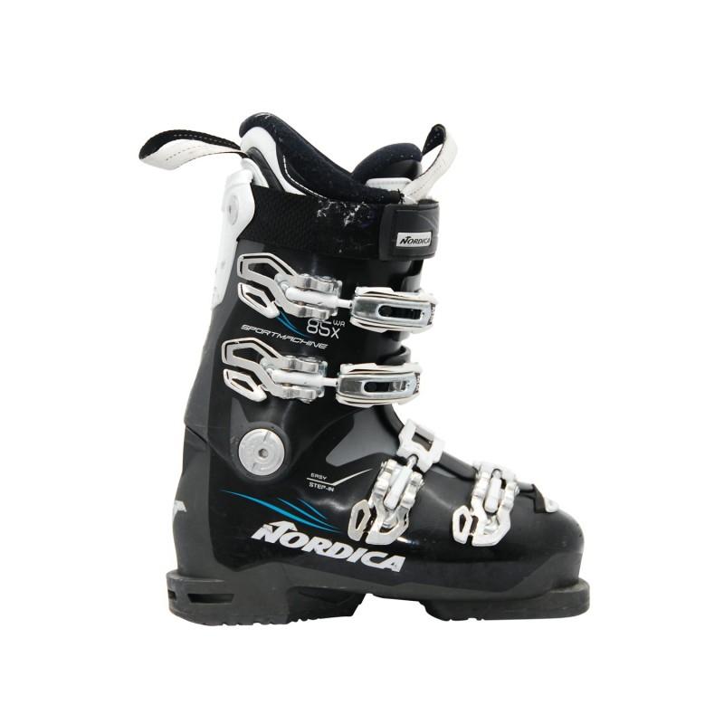 Chaussure ski occasion Nordica Sportmachine 85x WR noir - Qualité A