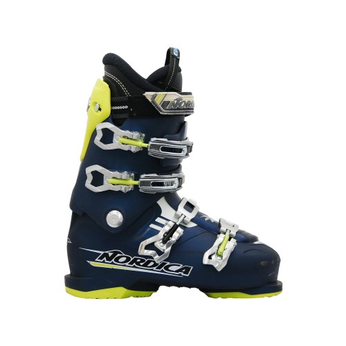 Gebrauchte Skischuh Nordica NXT 80R blau gelb