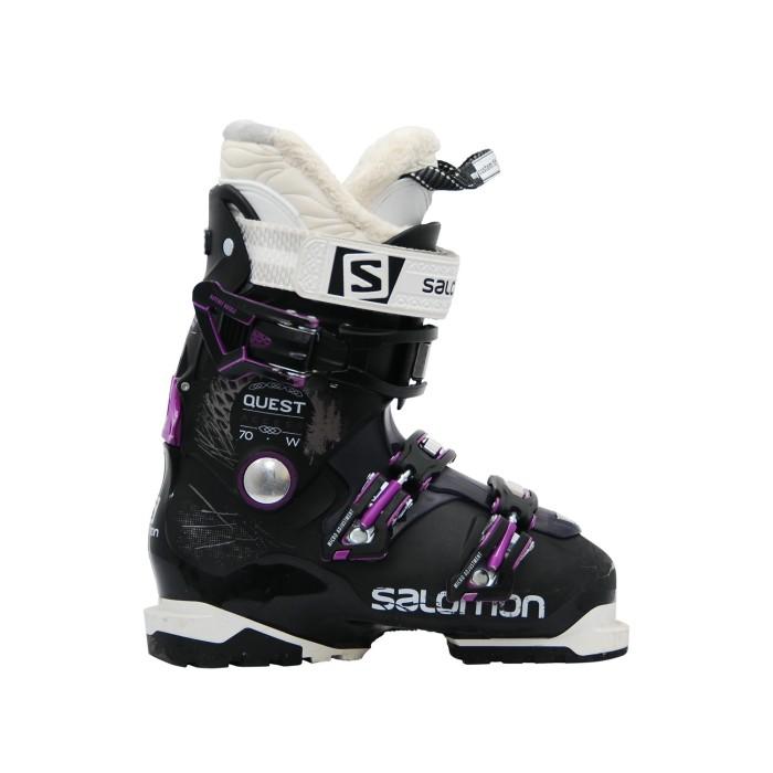 Gebrauchte Skischuhe Salomon Quest access R70w Schwarz violett
