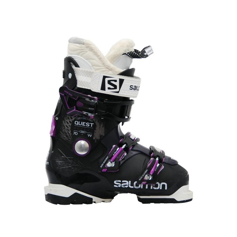 Chaussures de ski occasion Salomon Quest access R70w noir violet - Qualité A