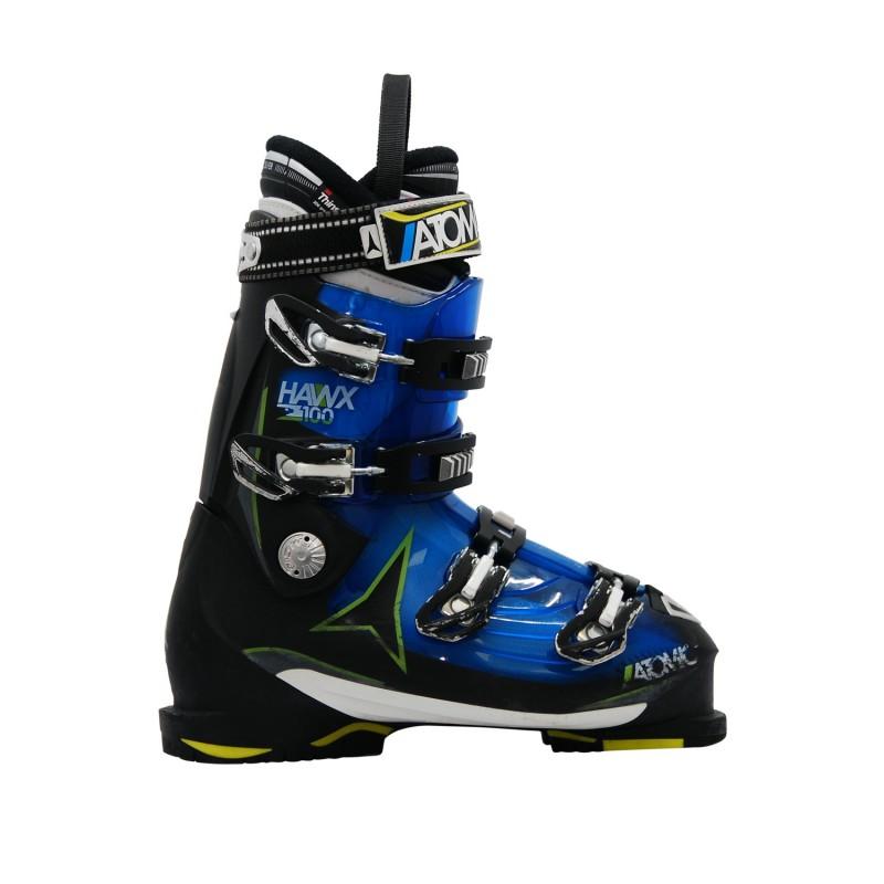 Chaussure de ski occasion Atomic Hawx 2.0 100 bleu noir - Qualité A