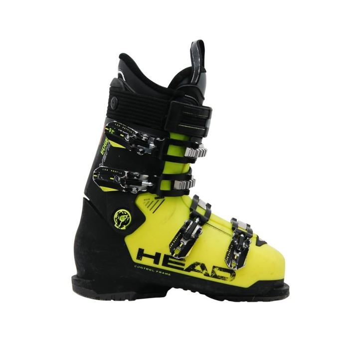 Cabeza usada bota de esquí advant edge 85 negro amarillo