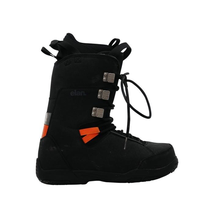 Elan negro alquiler de botas de snowboard usadas