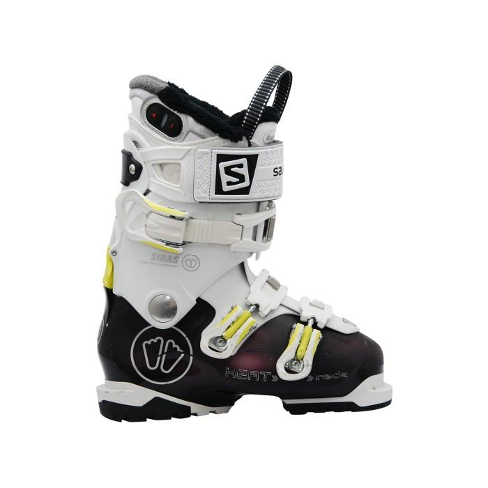 Botas de esquí blanco púrpura Salomon Sidas Heat W