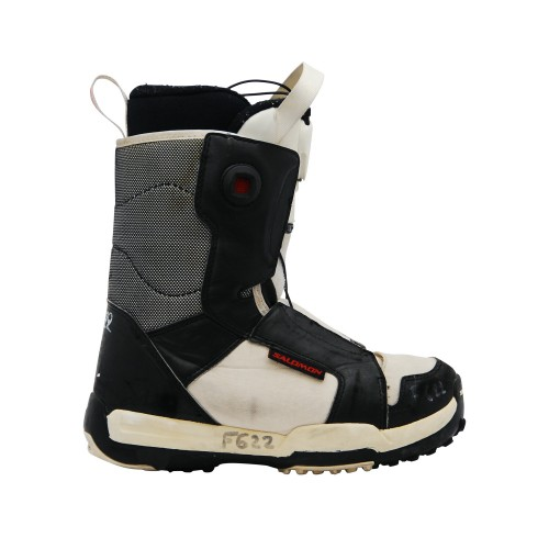 Boots occasion junior Salomon Talapus noir blanc